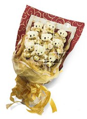 9 adet pelus ayicik  Ayı ayıcık buketi bear buketi