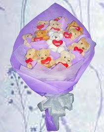 12 adet pelus ayicik buketi  Ayı ayıcık buketi teddy buket