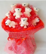 9 adet teddy bear buket  Yılbaşı hediyesi