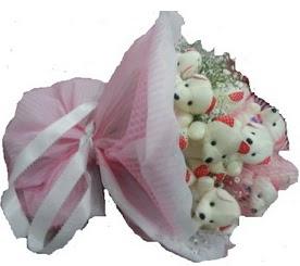 Ayıcık demeti ayıcık buketi teddy buket  12 adet ayıcıktan ayı buketi